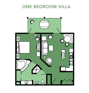 Disney's Hilton Head Island One Bedroom Villa Layout