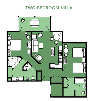 Two Bedroom Villa Layout