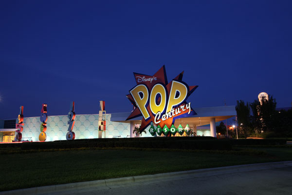 Disney's Pop Century Resort at Night