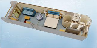 Disney Dream and Disney Fantasy Concierge Family Stateroom with Verandah - Disney Cruise Line