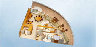 Disney Dream and Disney Fantasy Concierge Royal Suite with verandah - Disney Cruise Line
