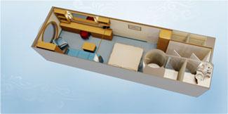 Disney Dream and Disney Fantasy Deluxe Family Oceanview Stateroom - Disney Cruise Line
