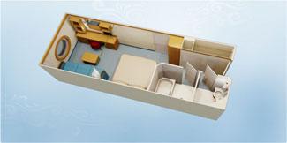 Disney Dream and Disney Fantasy Deluxe Oceanview Stateroom - Disney Cruise Line