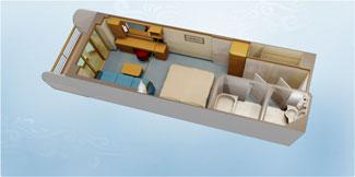Disney Dream and Disney Fantasy Deluxe Oceanview Stateroom with Verandah - Disney Cruise Line