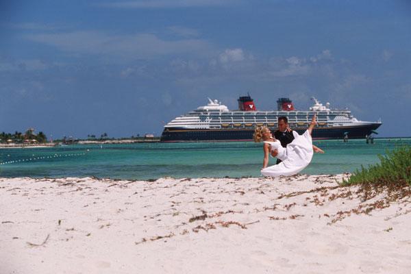 Newlyweds at Disney's Castaway Cay
