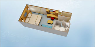 Disney Dream and Disney Fantasy  Standard Inside Stateroom - Disney Cruise Line