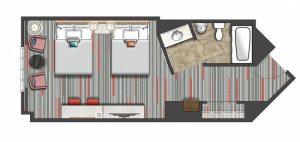 Hard Rock Hotel Standard Room Layout
