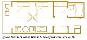 Disney's Wilderness Lodge Room Layout