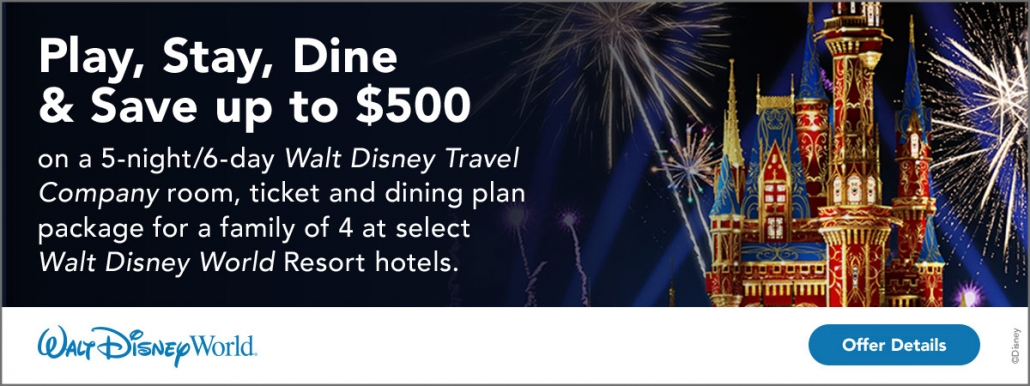 Play, Stay, Dine and Save in the Middle of the Magic with a Vacation-Ready Package