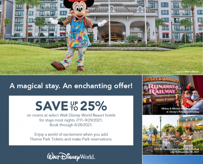 Save Up to 25% on Rooms at Select Disney Resort Hotels Summer 2021
