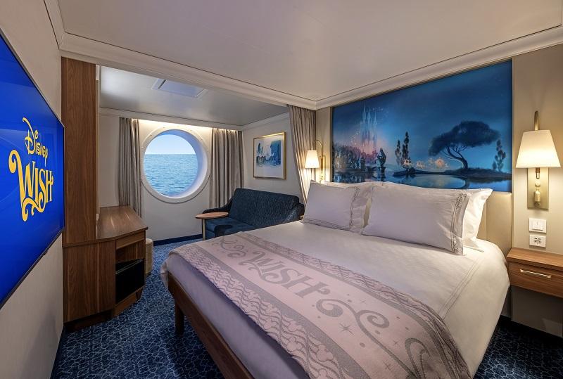 Disney Wish - Oceanview Stateroom - Artist Rendering