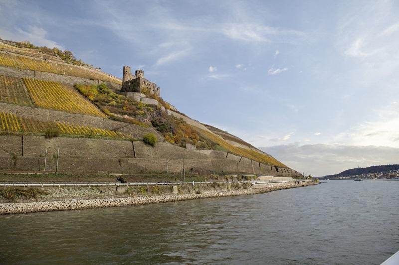 ABD - Koblenz to Rudesheim - CastleHillside View From Boat
