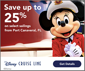 Enjoy waves of Disney cruise magic and save up to 25% on select sailings from Port Canaveral, Florida.